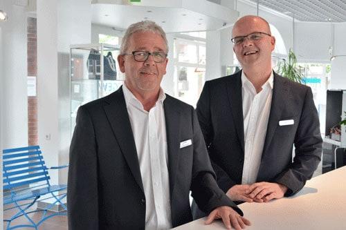 Thorsten Everts und Jürgen Kost führen auf Wunsch eine Energieberatung Zuhause durch.